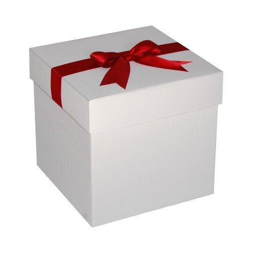 Cutie Patrata Pentru Cadouri Din Carton Cu Capac Si Funda Atasata